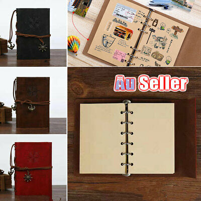 Notebook Cover Retro Diary Leather Classic Journal AU Sketchbook Travel
