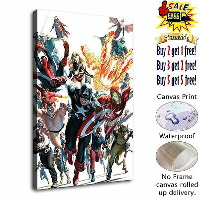 """12""""x18"""" Marvel Heroes HD Canvas prints Painting Home decor Room Picture Wall art"""
