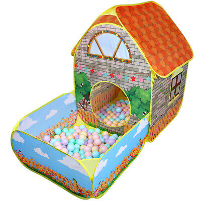 Kids Pop Up Play Tent Baby Tunnel Ball Pit Toddlers Playhouse Indoor Outdoor