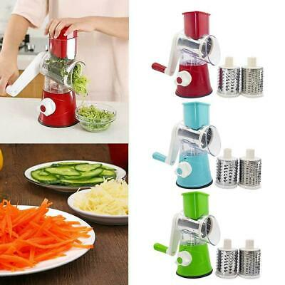 Multifunctional Manual Vegetables Cutter Round Mandoline Cheese Slicer L/&6
