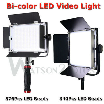 Dimmable Bi-Color LED Video Light +Reverse Stand Photography Studio Lighting Kit