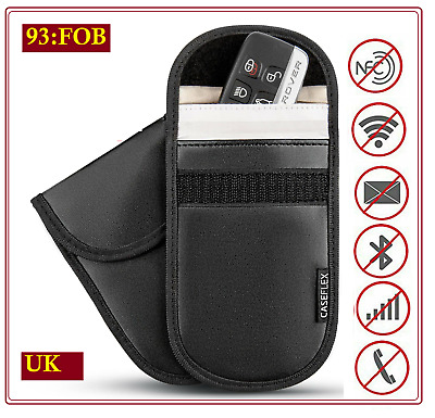 1 * Car Key Signal Blocker Case Faraday Cage Fob Pouch Keyless RFID Blocking Bag