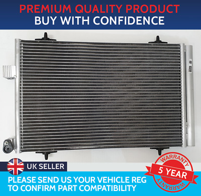 Condenser Air Con Radiator To Fit Citroen C5 Mk3 2009 On Peugeot 508 Mk1