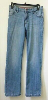 Wrangler Flex Jeans Boys Sz 14 Regular Straight Leg Medium Wash Mid Rise Denim