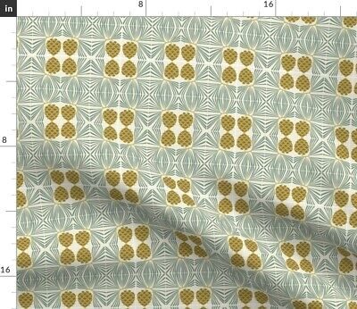 Pine Cone Arts And Crafts Style Fabric Printed by Spoonflower BTY