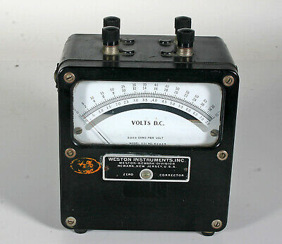 Weston  DC Meter - Model 931 - 3 ranges -  0 -7.5 v, 0 - 30v, 0 - 75v