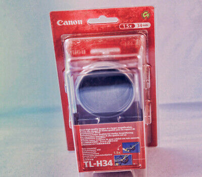 new !! Canon Tele-Converter TL-H34 X 1.5 for the Elura 80/85/90 and Optura 50/60