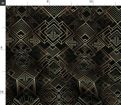 Retro Art Deco Geometric 1920S Vintage Fabric Printed by Spoonflower BTY