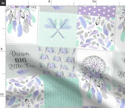 Dreamcatcher Feathers Girls Baby Girl Boho Fabric Printed by Spoonflower BTY