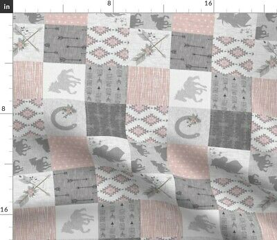 Wholecloth Equestrian Horse Girl Fabric Printed by Spoonflower BTY
