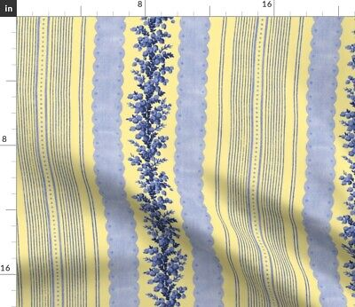 French Tick Ticking Stripe Antique Victorian Fabric Printed by Spoonflower BTY