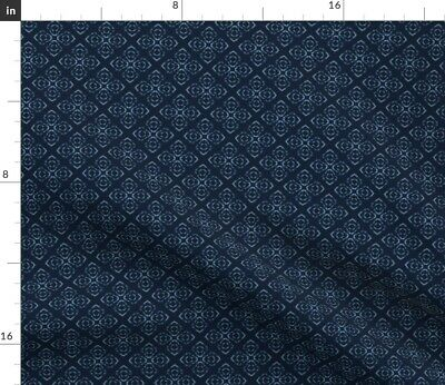 Starry Night Midnight Blue Indigo Sky Fabric Printed by Spoonflower BTY