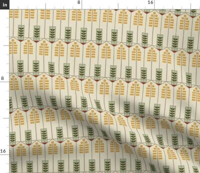 Prairie Style Neutral Geometric Arts And Fabric Printed by Spoonflower BTY