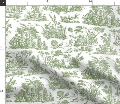 Toile French Historically Accurate Antique Fabric Printed by Spoonflower BTY