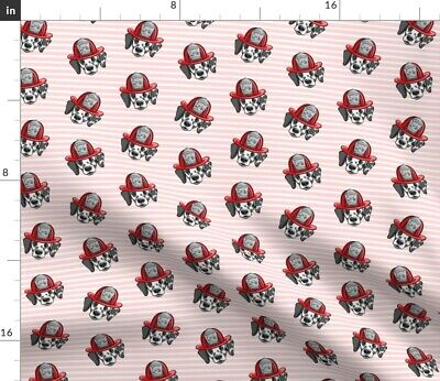 Dalmatian Dalmation Dog Breed Fire Firefighter Fabric Printed by Spoonflower BTY