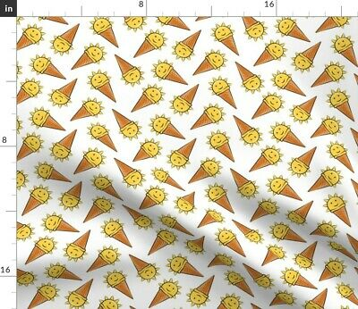 Sunshine Sun Children Happy Baby Girl Ice Fabric Printed by Spoonflower BTY