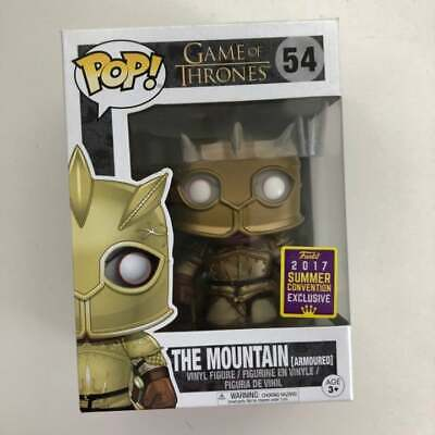 Funko Pop HBO Game of Thrones  The Mountain Armoured #54 2017 SDCC Exclusive