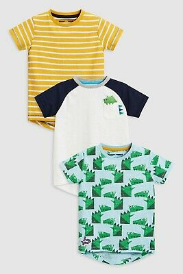 BNWT Next Boys 3 Pack T-shirts, Dinosaurs, 3-4 Years