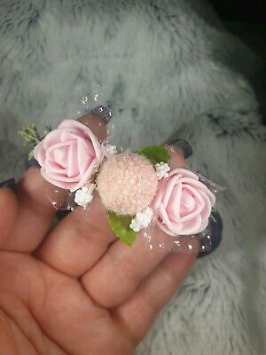 Handmade Baptism baby headband,tulle and bow hair band for christening flowers