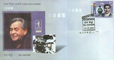 India 2001 Fdc The Great Showman Actor Director Producer Raj Kapoor