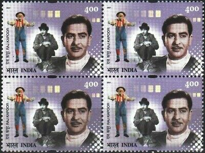 India 2001 Stamps The Great Showman Actor Director Producer Raj Kapoor