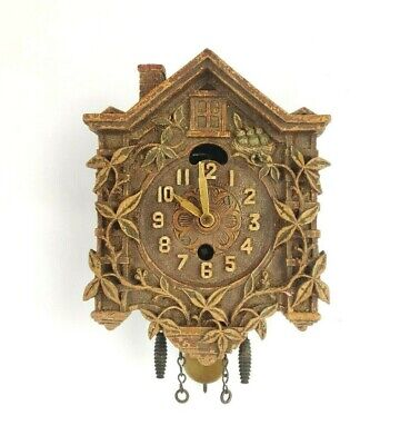 Lux Animated Swinging Bird Pendulette Clock Missing Bird For Parts