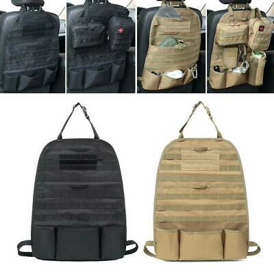 Tactical Molle Vehicle Car Seat Back Organizer Multi-Pocket Storage Bag Cover AU