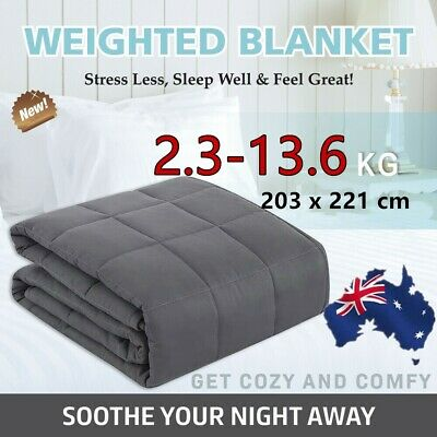 Premium Weighted Blanket Adults Kids Gravity 2/3/5/7/9KG Heavy Gravity U