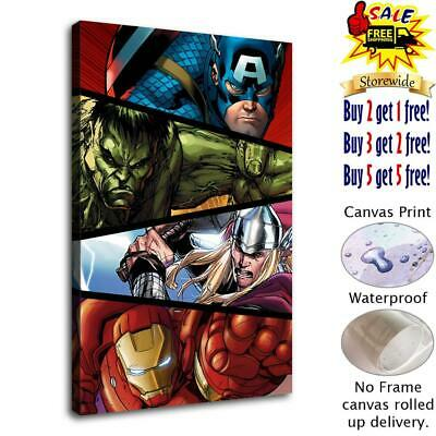 """12""""x18"""" Super heroes HD Canvas print Painting Home decor Room Wall art Picture"""