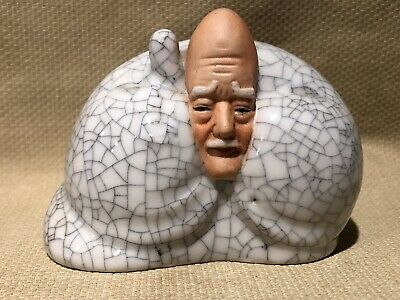 Antique Chinese  / Japanese Old Man Porcelain Figurine