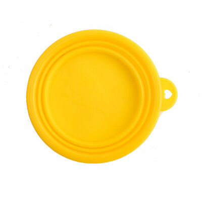 Pet Cat dog Bowl folding collapsible silicone puppy doggy feeder water food W8H