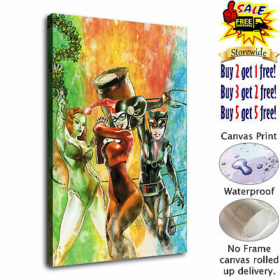 """12""""x18"""" Harry Quinn Catwoman HD Canvas prints Paint Home decor Wall art Pictures"""