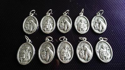 10x St Jude charms Catholic Saint charm Vatican City medal medallion Italy #1