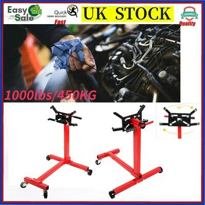 Heavy Duty 360° Swivel Transmission Gearbox Engine Support Stand 1000 lbs 450kg