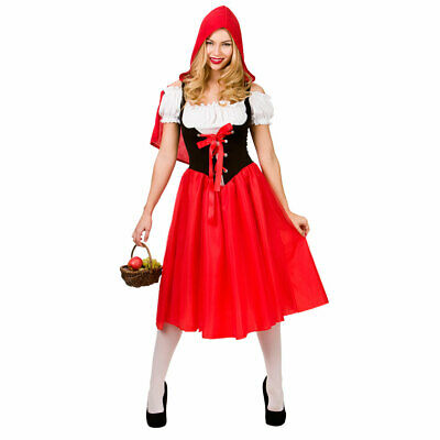 CL685 Woodland Red Riding Hood Fairy Tale Women Storybook Fancy Dress Costume
