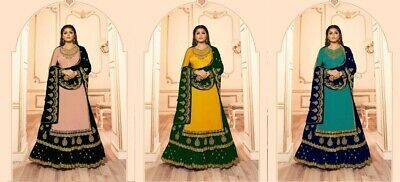 Pakistani Bollywood Design Lengha Suit Indian Ethnic Anarkali Salwar Kameez FM