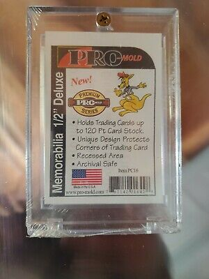 """PC14 PROMOLD 1-SCREW 1//2/"""" THICK UV ACRYLIC CARD RECESSED HOLDERS 20pt. 5"""
