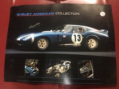 Carroll Shelby Autographed Poster - Daytona Coupe