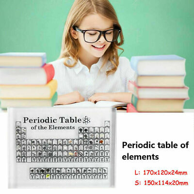 Acrylic Periodic Table of Elements Table Display Teacher Student Gift 150/170mm