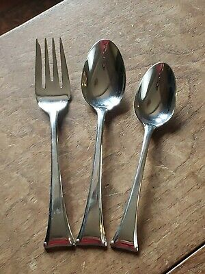 GORHAM 18/8 Stainless Steel THEME 3 Piece Place Setting