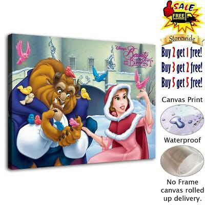 """12""""x16"""" Beauty and the Beast HD Canvas prints Home decor Room Wall art Posters"""