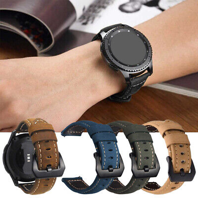 Genuine Leather Band Watch Strap For Samsung Galaxy Gear S3 Classic / Frontier