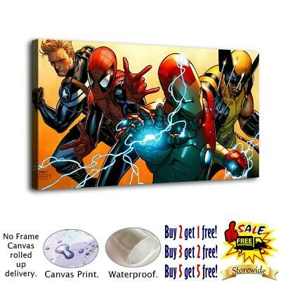 "12""x22"" Marvel Character HD Canvas prints Painting Home decor Wall art Pictures"