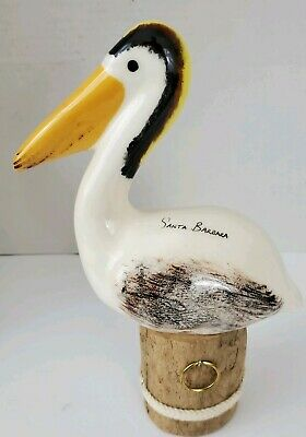 Wood pelican Figure SANTA BARBARA Handmade in Oregon