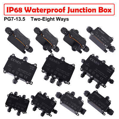 AU IP68 Waterproof Electrical Junction Box Cable Protection Connectors