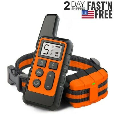875 Yards Electric Dog Shock Collar Rechargeable Waterproof Remote Pet Training