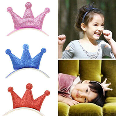 Kids Baby Girls Shiny Crown Headband Tiara Princess Hair Accessory Hair Band