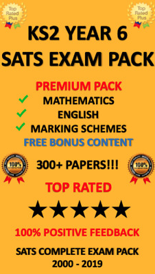 Sats Year 6 Ks2 2000-2019 Test Papers Maths English Science + Answers *Download