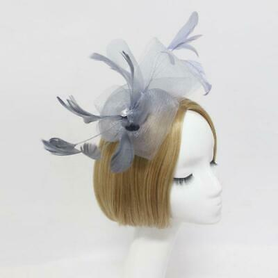Feather Wedding Bridal Ladies Fancy Ascot Race Fascinator Hair Clip Headpiece
