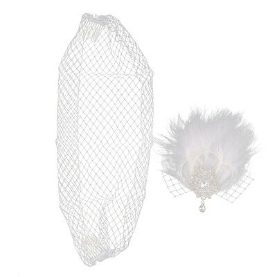 Diamante Feather Clip Fascinator Wedding Races Proms Bridal Hair Accessory